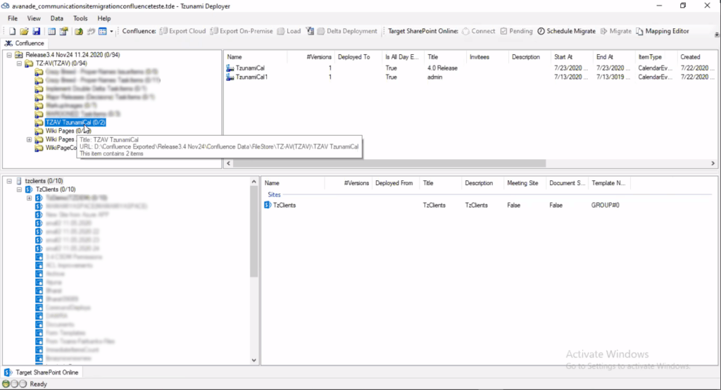 Confluence to SharePoint Online migration
