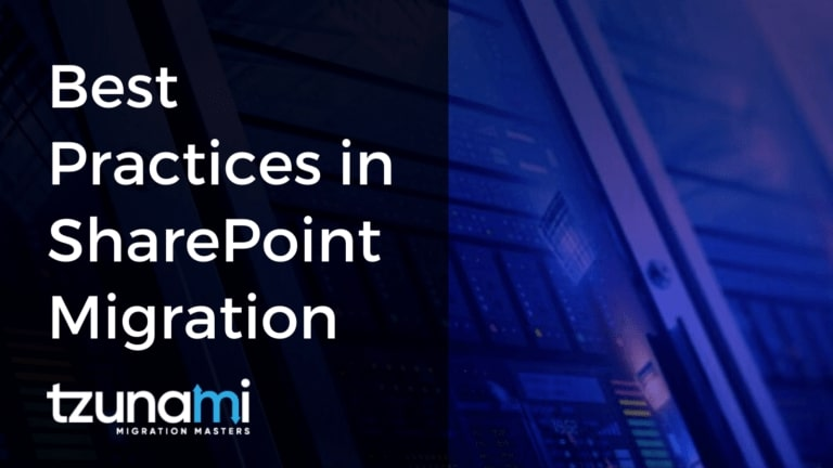 Best Practices in SharePoint Migration